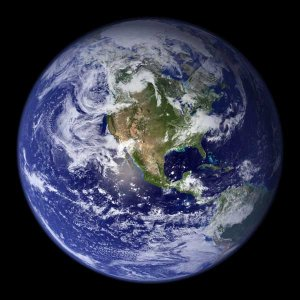 Earth from Space North America Continent satellite photo photograph art Print