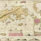 St. Thomas St. John Danish Virgin Islands 1719 map van Keulen