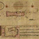 Porto Puerto Rico British and US Virgin Islands Danish West Indies Caribbean 1710 map by van Keulen