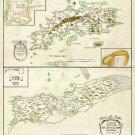 St. Thomas St. Croix Danish West Indies US Virgin Islands 1734 plantation Caribbean map
