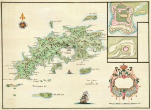 st thomas danish west indies us virgin islands 1772 plantation caribbean map