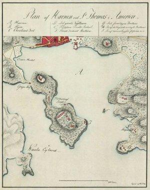 st thomas harbor danish west indies us virgin islands 1800 caribbean map by lundbye