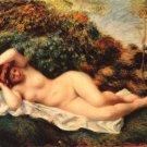 Bathing Sleeping the Baker woman canvas art print by Pierre-Auguste Renoir