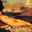 Napping Venus woman canvas art print by Castel Franco