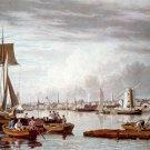Boston from City Point near Sea Street canvas art print by W.J. Bennett