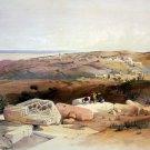 Gaza Palestine Holy Land 1839 engraving art print by W.J. Bennett