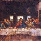 The Last Supper Christian Jesus Apostles Canvas art print by Da Vinci