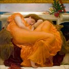 Flaming June 1895 woman canvas art print by Lord Frederic Leighton