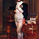 Napoleon in his Study in Tuileries Palace man portrait 1812 canvas art print by Jacques-Louis David