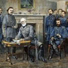 Lee Surrenders to Grant Appomattox Court Civil War art print by Waud