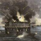 Fort Sumter Bombardment Charleston Harbor Civil War canvas art print