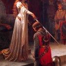 The Accolade 1901 canvas victorian art print by Edmund Blair Leighton
