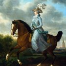 Equestrian portrait of Frederika Sophia Wilhelmina woman canvas art print by Philipp Christian Haag