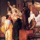 A Sculpture Gallery 1867 people Victorian canvas art print by Lawrence Alma Tadema