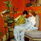 Confidences 1869 Victorian women canvas art print by Lawrence Alma Tadema