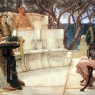 Sappho and Alcaeus 1881 Victorian canvas art print by Lawrence Alma Tadema