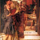 The Parting Kiss 1882 Victorian canvas art print by Lawrence Alma Tadema
