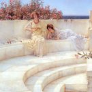 Under the Roof of Blue Ionian Weather 1903 Victorian canvas art print by Lawrence Alma Tadema