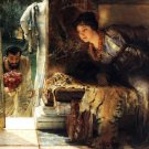 Welcome Footsteps 1883 Victorian canvas art print by Lawrence Alma Tadema