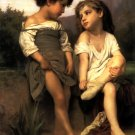 Au Bord du Ruisseau At the Edge of the Brook 1879 canvas art print by William Adolphe Bouguereau