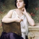 Inspiration 1898 woman canvas art print by William Adolphe Bouguereau
