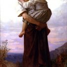 Jeunes Bohemiennes 1879 woman girl  canvas art print by William Adolphe Bouguereau