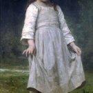 La révérence 1898 girl child canvas art print by William Adolphe Bouguereau