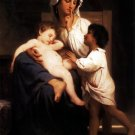 Le sommeil 1864 woman child baby canvas art print by William Adolphe Bouguereau
