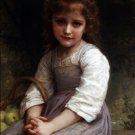 Les pommes 1897 girl child canvas art print by William Adolphe Bouguereau