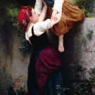 Petites Maraudeuses girls canvas art print by William Adolphe Bouguereau