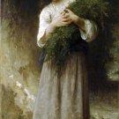 Retour des champs 1898 child girl canvas art print by William Adolphe Bouguereau