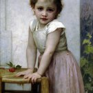 Yvonne 1896 child girl canvas art print by William Adolphe Bouguereau