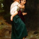 Le Passage du gué The Crossing of the Ford Child canvas art print by William Adolphe Bouguereau