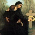 Le jour des morts 1859 The Day of the Dead woman canvas art print by William Adolphe Bouguereau