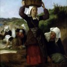 Washerwomen of Fouesnant canvas art print by William Adolphe Bouguereau