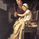 Le voeu 1867 The Vow woman and girl canvas art print by William Adolphe Bouguereau