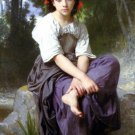 Au Bord du Ruisseau 1875 At the Edge of the Brook canvas art print by William Adolphe Bouguereau