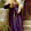 Fileuse 1873 The Spinner girl canvas art print by William Adolphe Bouguereau