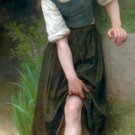 Le Gué 1895 The Ford girl canvas art print by William Adolphe Bouguereau