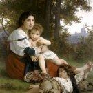 Le Repos 1879 Rest canvas art print by William Adolphe Bouguereau