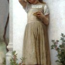 En Penitence 1895 In Penitence girl canvas art print by William Adolphe Bouguereau