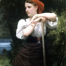 Faneuse 1869 The Haymaker woman canvas art print by William Adolphe Bouguereau