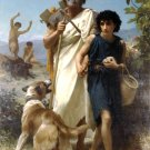 Homere et son Guide 1874 Homer and his Guide canvas art print by William Adolphe Bouguereau
