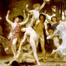 La Jeunesse de Bacchus 1884 centre detail canvas art print by William Adolphe Bouguereau