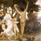 La Jeunesse de Bacchus 1884 The Youth of Bacchus right detail canvas art print by W. A. Bouguereau