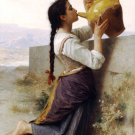 La Soif 1886 Thirst girl canvas art print by William Adolphe Bouguereau