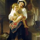 Le Lever 1871 Up You Go canvas art print by William Adolphe Bouguereau