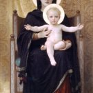 Madone Assise 1888 The Seated Madonna canvas art print by Bouguereau