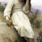 Petite Maraudeuse 1900 Little Thief girl canvas art print by William Adolphe Bouguereau
