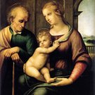 Holy Family Beardless St Joseph Christian canvas art print by Raphael